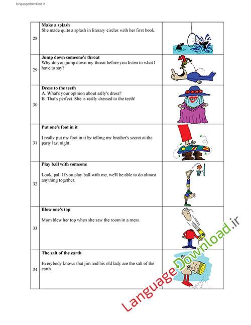 یادگیری اصطلاحات زبان انگلیسی در خانه