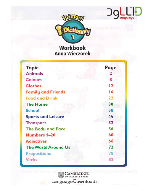 آموزش لغات انگلیسی برای خردسالان در خانه