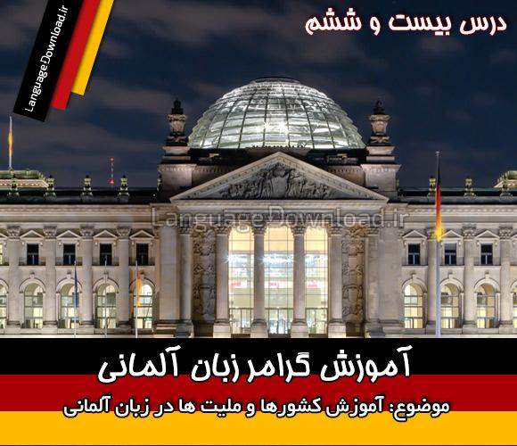 یادگیری اسامی کشورها و ملیت ها به آلمانی